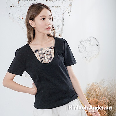 【Kinloch Anderson金安德森女裝】氣質甜美針織假兩件上衣-2色