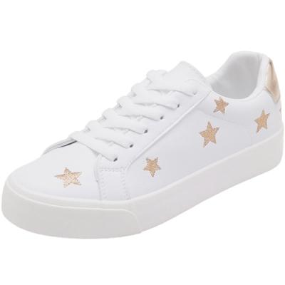 韓國KW美鞋館 嬌豔航線星星造型小白鞋-白金