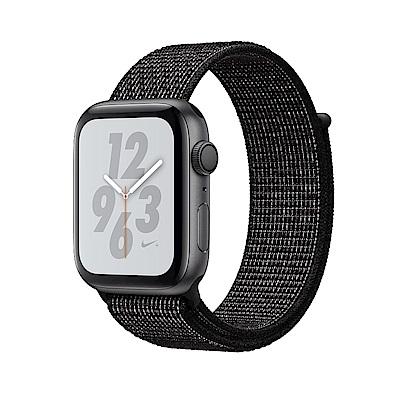 Apple Nike S4 GPS 44mm 太空灰鋁金屬錶殼搭黑色Nike運動型錶環 @ Y!購物