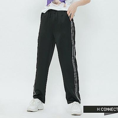 H:CONNECT 韓國品牌 女裝-織帶滾邊運動褲-黑