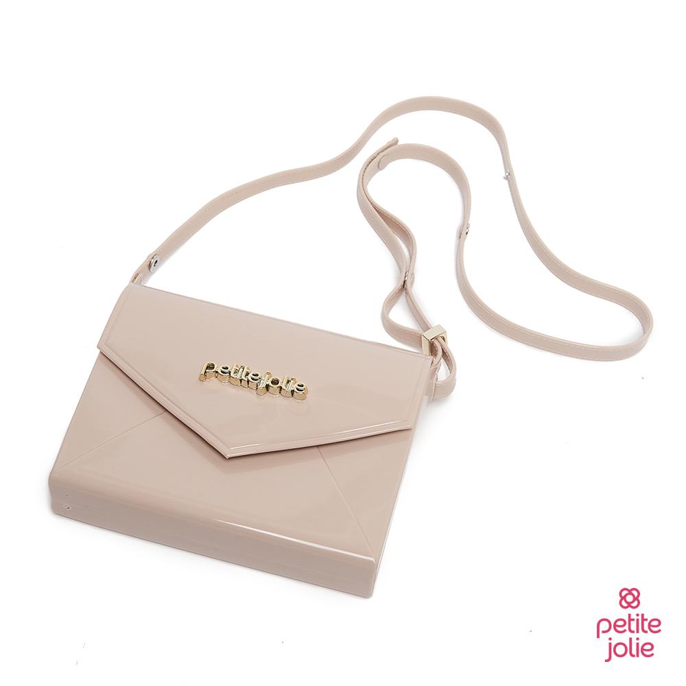 Petite Jolie--時尚名媛斜背果凍信封包-粉膚