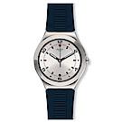 Swatch BRUT DE BLEU 藍色刻紋手錶