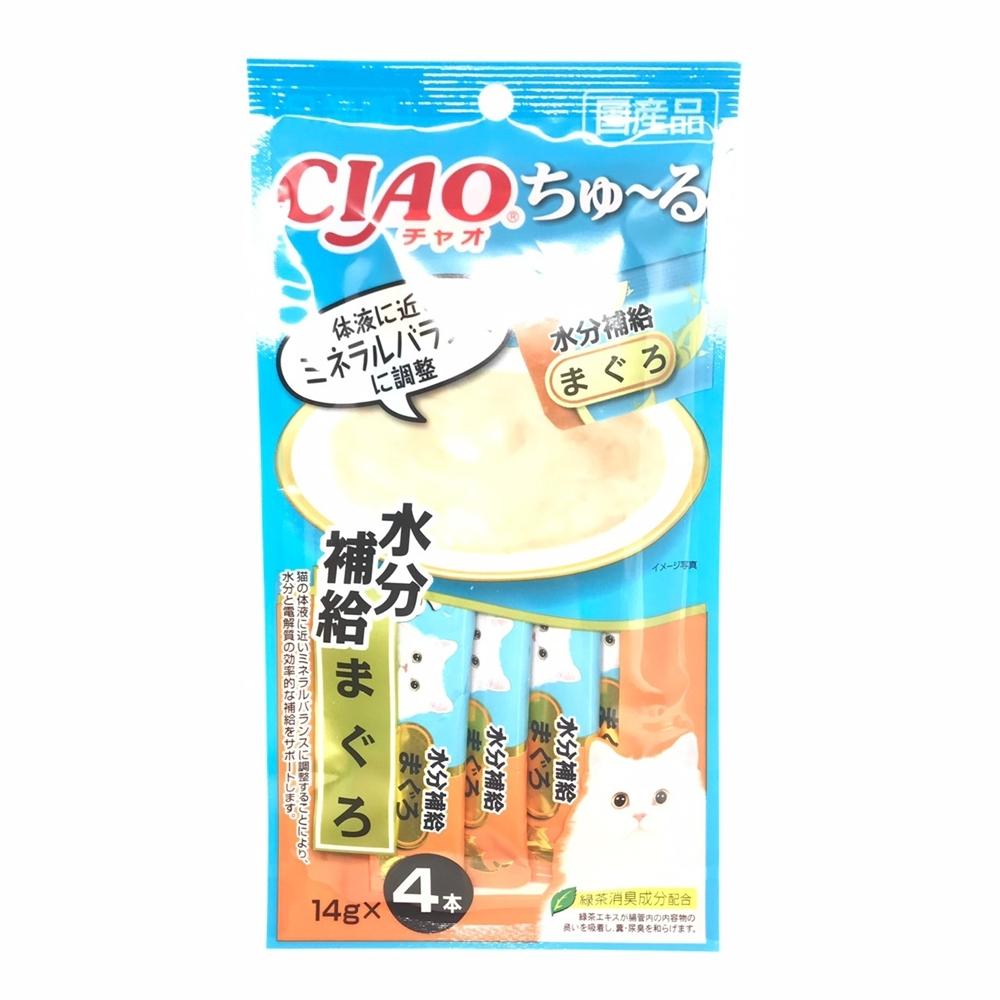 日本 CIAO 啾嚕燒肉泥 SC-179 水分補給 鮪魚 14g*4入
