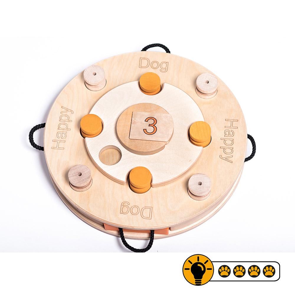 靈靈狗 生日蛋糕輪盤 寵物桌遊 益智玩具 互動遊戲