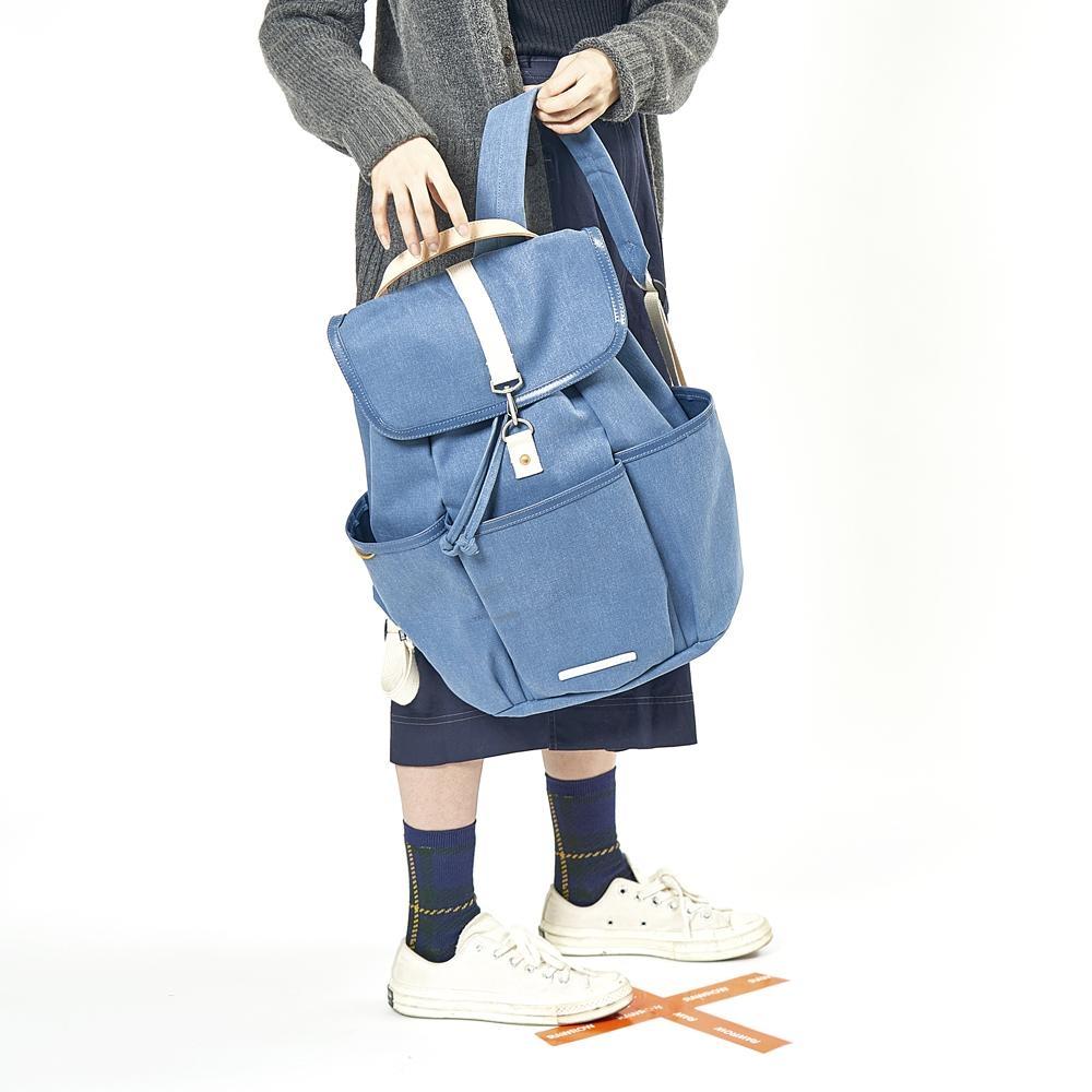 RAWROW-公園系列-15吋兩用束口後背包(手提/後背)-靛藍-RBP700IB