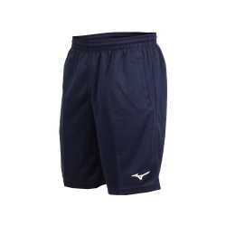 MIZUNO 男針織短褲-路跑 慢跑 健身 訓練 五分褲 美津濃 丈青白