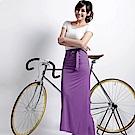 【遊遍天下】MIT台灣製涼感抗UV防曬吸排多功能一片裙117(加大尺碼)紫色