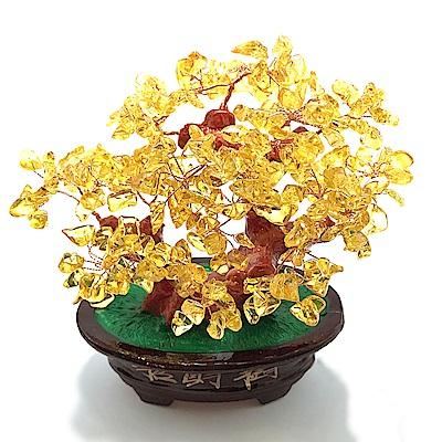 Hera 赫拉 財庫滿滿黃水晶招財樹/發財樹