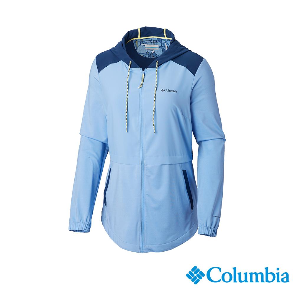 Columbia 哥倫比亞 女款-UPF50快排外套-藍色 UAK26440BL
