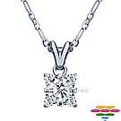 彩糖 GIA 30分 E/SI2 3EX 四爪鑽石項鍊
