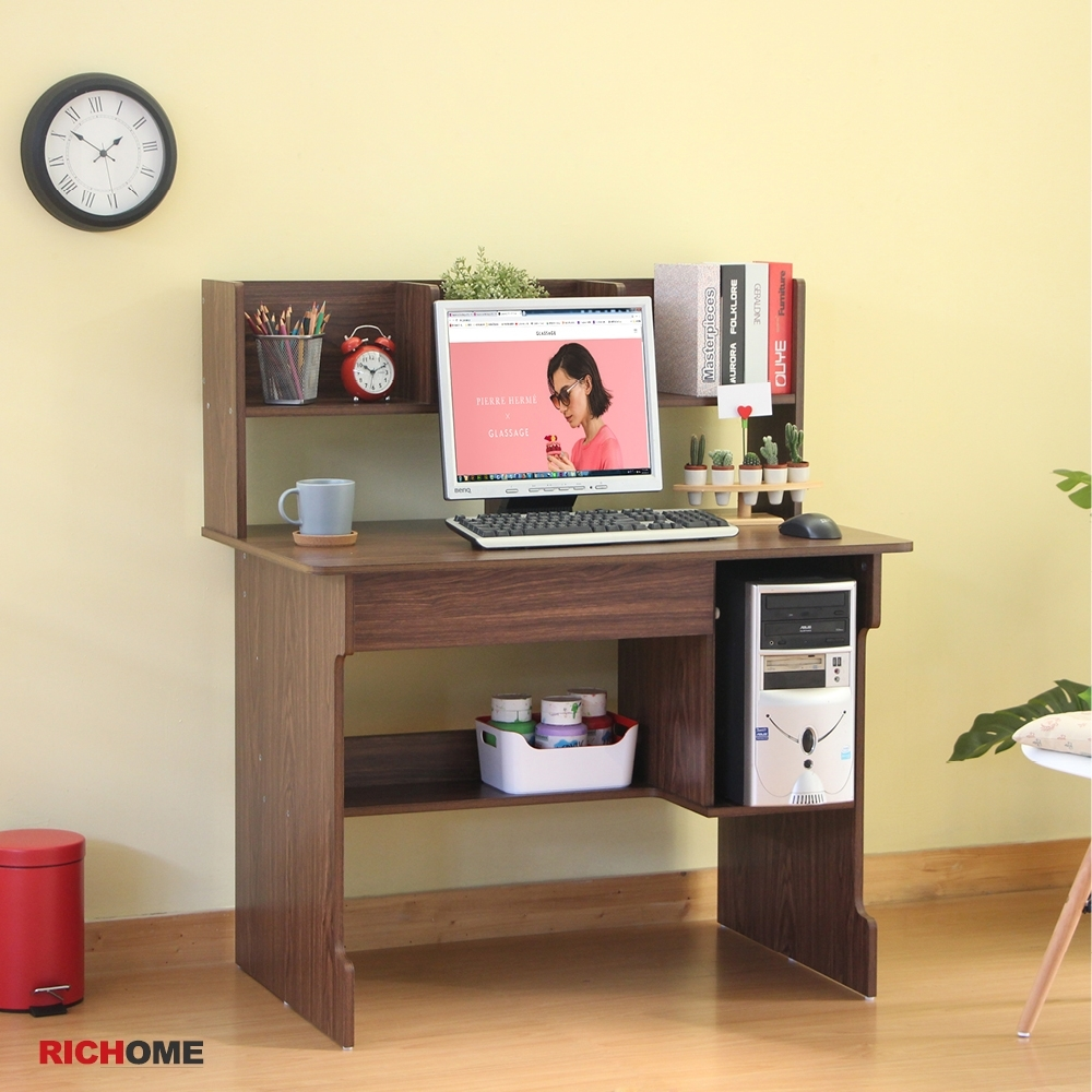 【RICHOME】BILLY雙抽電腦書桌 product image 1