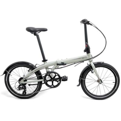 Tern 2019Link C8 20吋8速鋁合金折疊單車-亮水泥色底灰標紅線