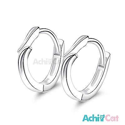 AchiCat 925純銀耳環 緊緊相擁 純銀易扣耳環