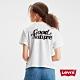 Levsi 女款 短袖學院T恤 中短版方正寬袖版型 自然系Logo product thumbnail 1