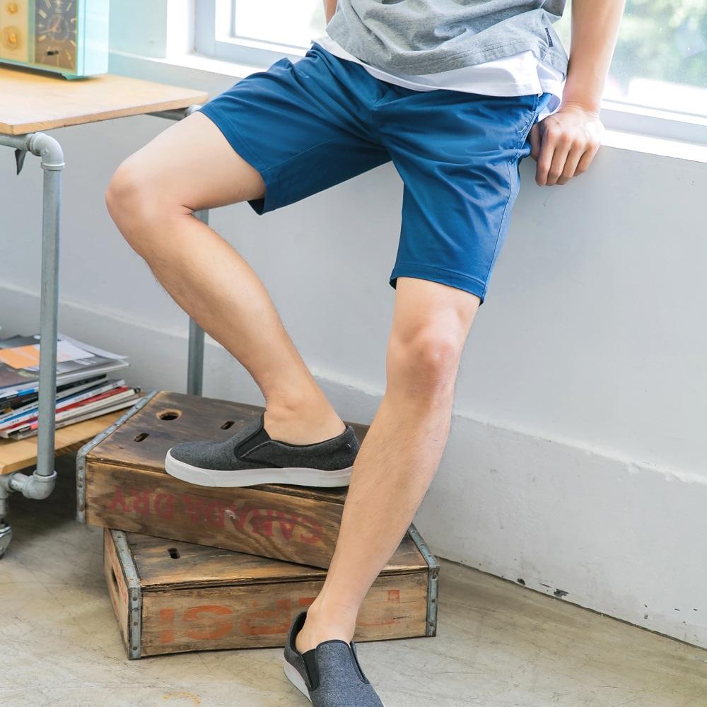 腰抽繩鬆緊撞色設計挺版短褲-OB嚴選 product image 1