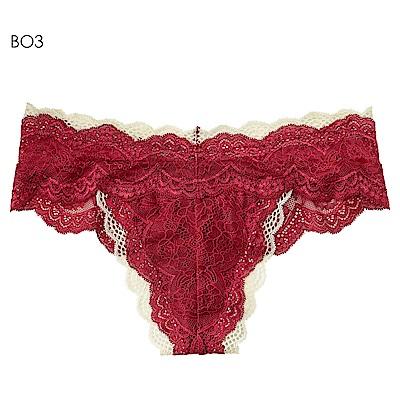 aimerfeel 雙蕾絲性感丁字褲-玫瑰色-598123-BO3