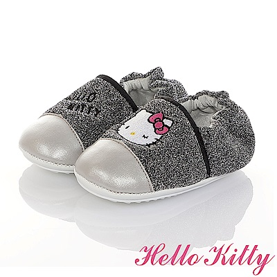 HelloKitty 金蔥輕量柔軟減壓寶寶學步童鞋-銀