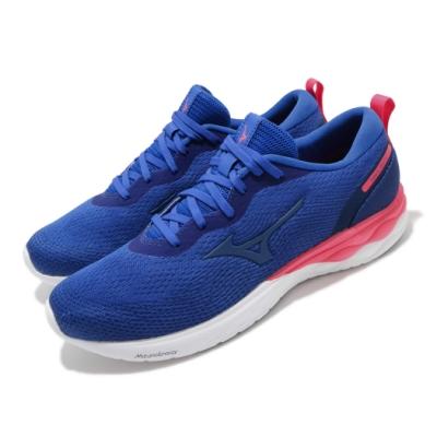 Mizuno 慢跑鞋 Wave Revolt 寬楦 男鞋 美津濃 路跑 緩震 透氣 舒適 藍 粉 J1GC208571