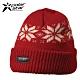 PolarStar 台灣製 反摺橫條羊毛保暖帽 P13606『紅』 product thumbnail 1