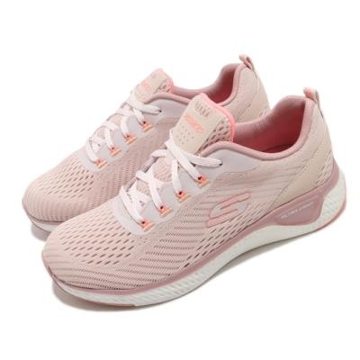Skechers 慢跑鞋 Solar Fuse 運動休閒 女鞋 輕量 避震 緩衝 記憶型泡棉鞋墊 透氣 粉 白 149051LTPK