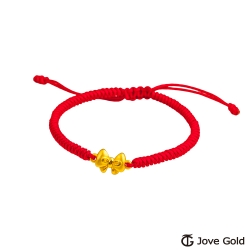 Jove gold漾金飾 小可愛黃金紅繩手鍊
