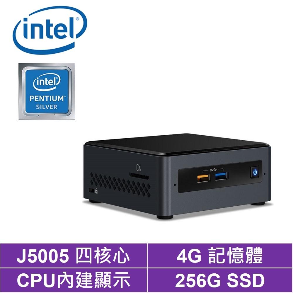 Intel NUC平台奔騰四核{地心戰魂} 迷你電腦(J5005/4G/256G SSD)