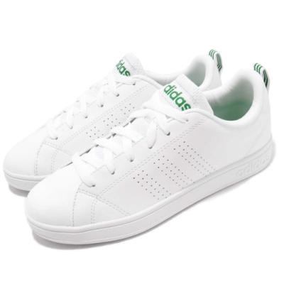 adidas 休閒鞋 Advantage 男女鞋 愛迪達 低筒 基本款 經典 流行 推薦 白 綠