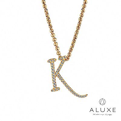 A Diamond 亞立詩鑽石 專屬寵愛 字母美鑽項鍊【K】