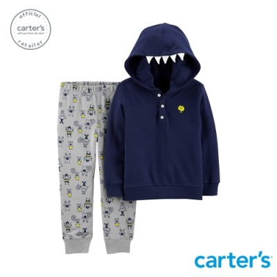 Carter s台灣總代理 怪物咬一口2件組套裝(連帽上衣)