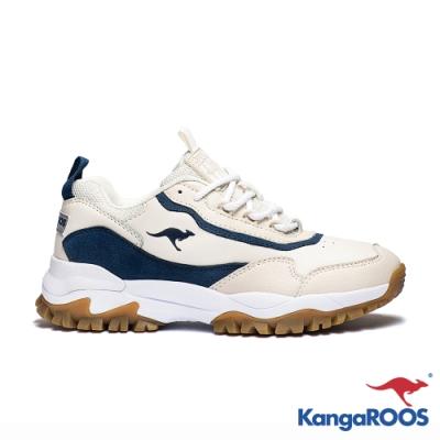 KangaROOS 美國袋鼠鞋 女 NEON 越野老爹鞋(奶茶色)
