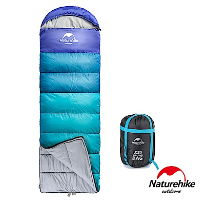 Naturehike 升級版 U280P全開式戶外保暖睡袋 孔雀藍