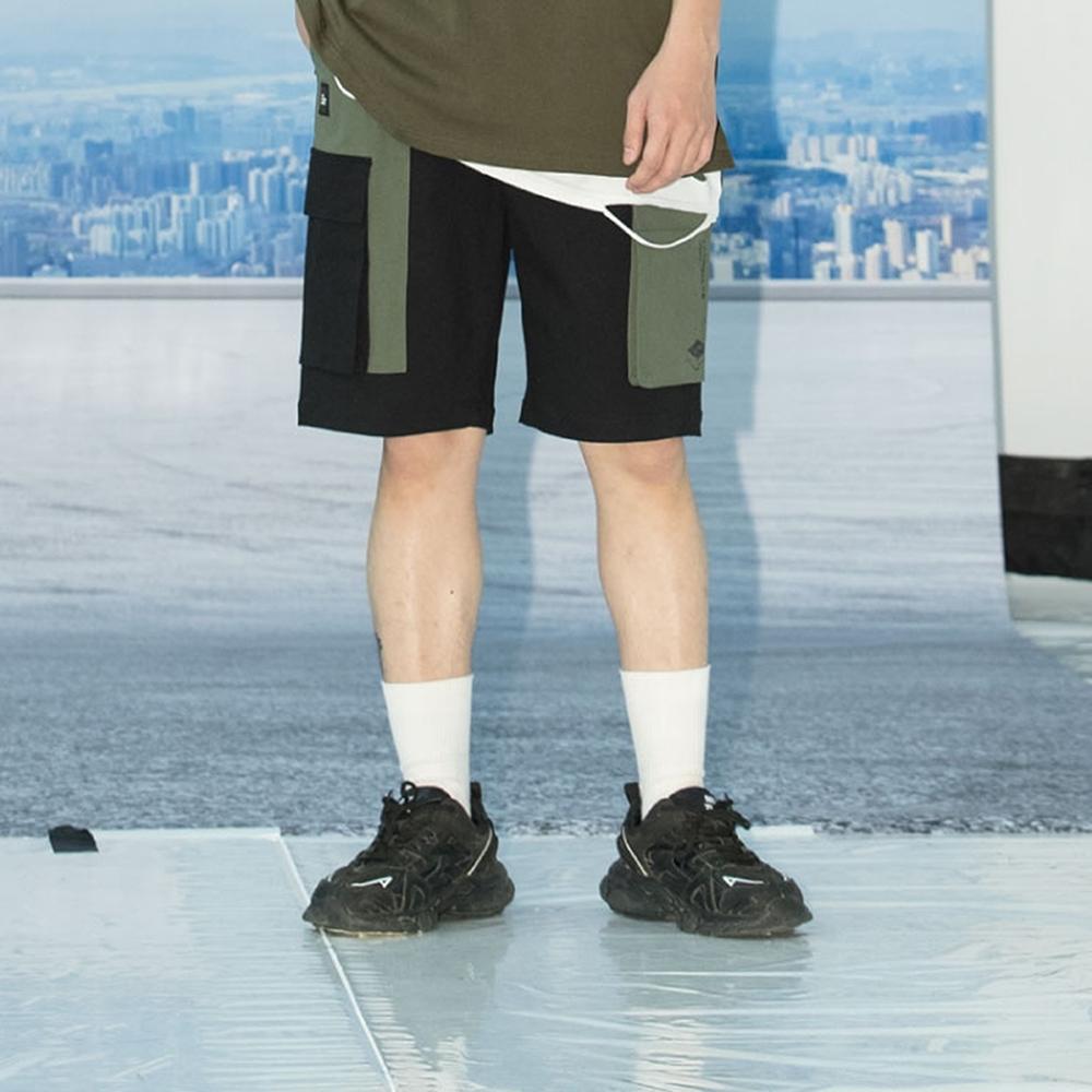 LAKING.LAB-美式撞色口袋工作短褲