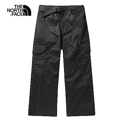 The North Face北面女款黑色寬褲|3VTMJK3