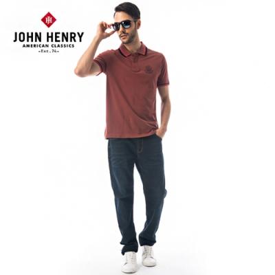 【JOHN HENRY】領口配色非洲民俗造型短袖POLO衫-兩色選