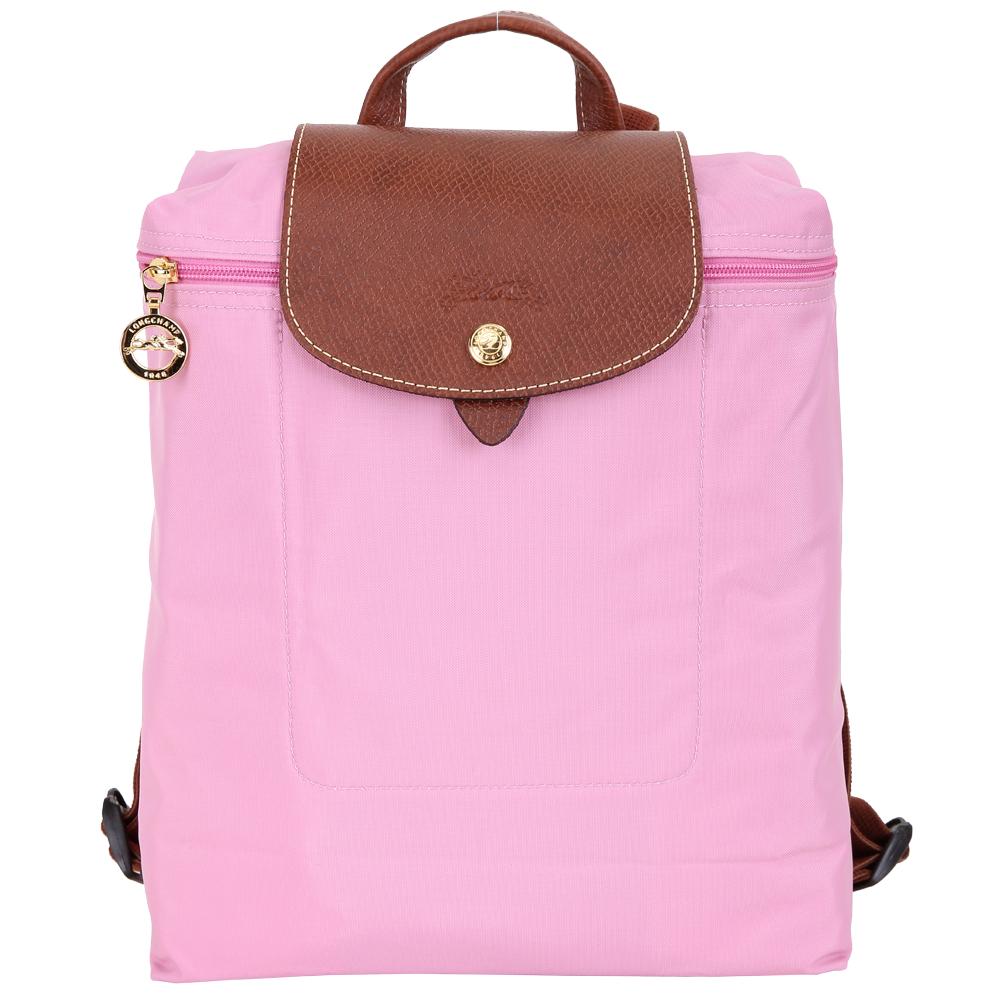 LONGCHAMP Le pliage 尼龍折疊後背包(粉紅色) @ Y!購物