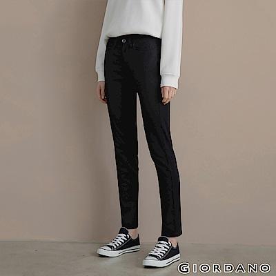 GIORDANO 女裝中腰標準窄管休閒褲-09 經典黑