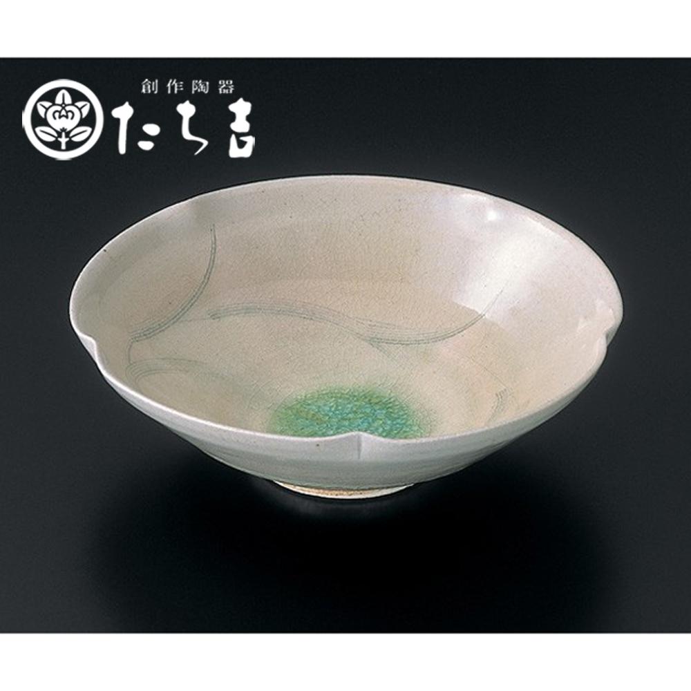 日本橘吉 灰釉草文盛缽-1入
