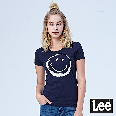 Lee LEE x SMILY聯名短袖圓領TEE/Smiley-丈青