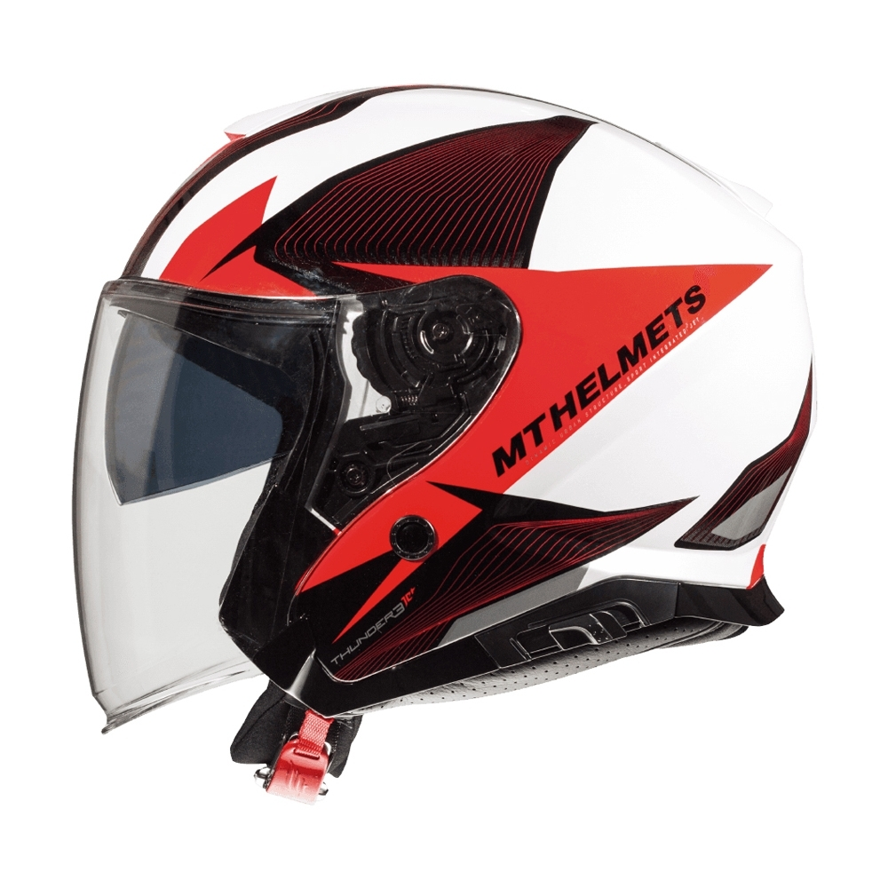 MTHELMETS MT安全帽 THUNDER3 sv Jet WNG系列珍珠白紅