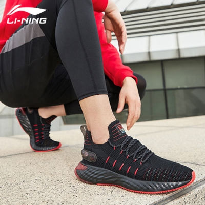 LI-NING 李寧 雲六代 Element 標黑焰紅色-男慢跑鞋(ARHQ001-2)
