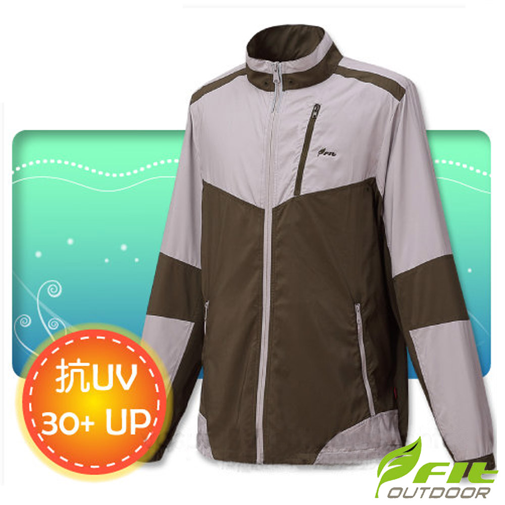 FIT 男新款 透氣吸排抗UV防曬外套_FS1302 橄欖綠
