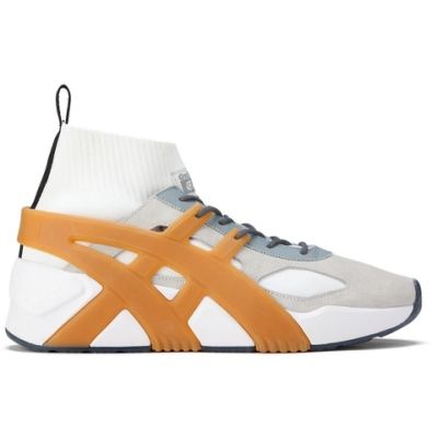 Onitsuka Tiger- BIG LOGO TRAINER 2.0 SOCK 男女休閒鞋 白底米邊 1183B472-021