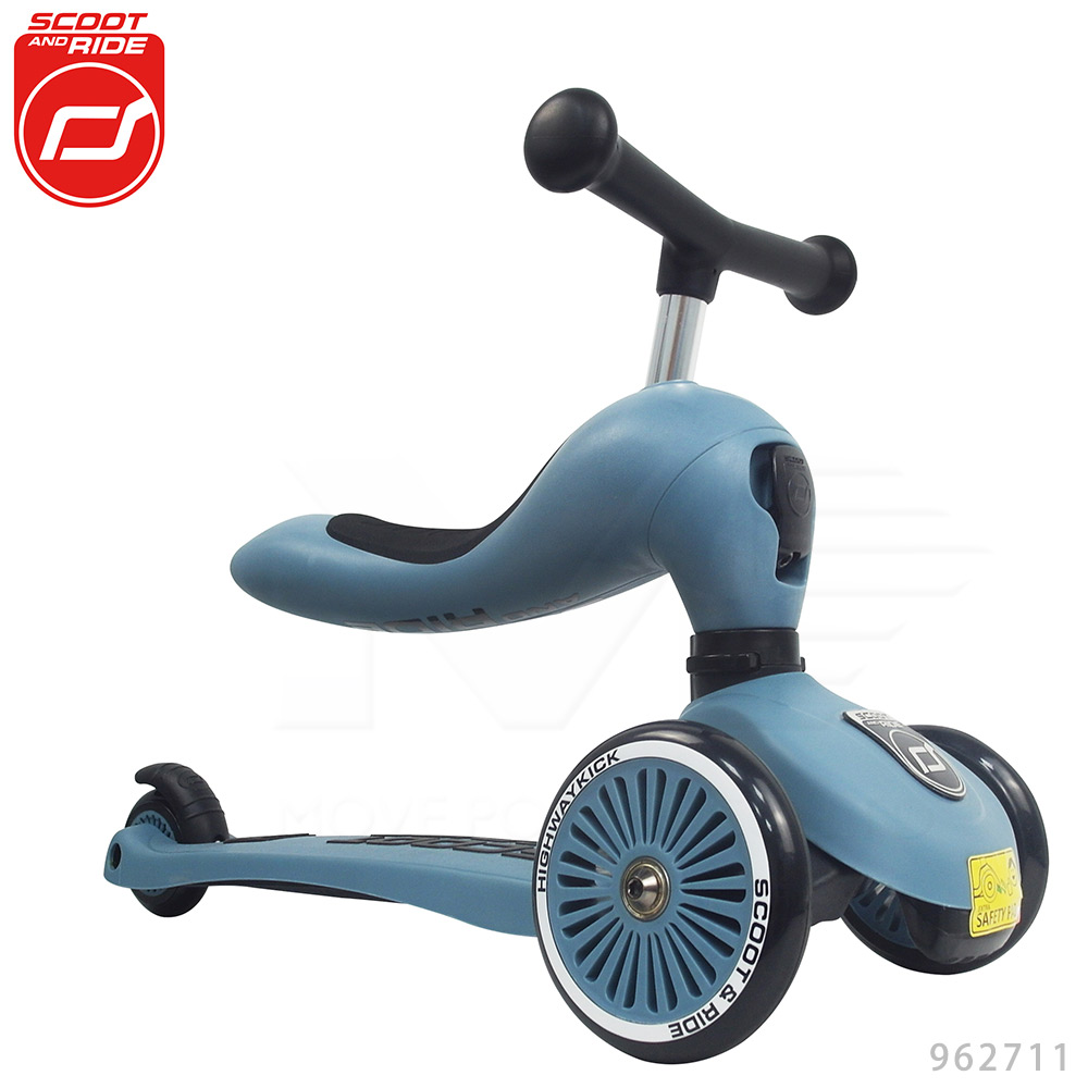 奧地利【Scoot&Ride】Cool飛/二合一滑步車-岩石藍