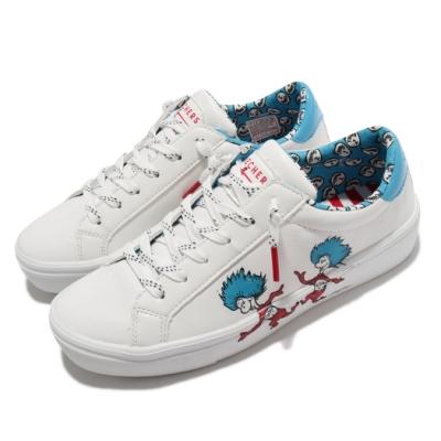 Skechers 休閒鞋 Goldie 2 Two Things 女鞋 蘇斯博士 聯名款 皮革鞋面 穿搭 白 藍 155324WBLR