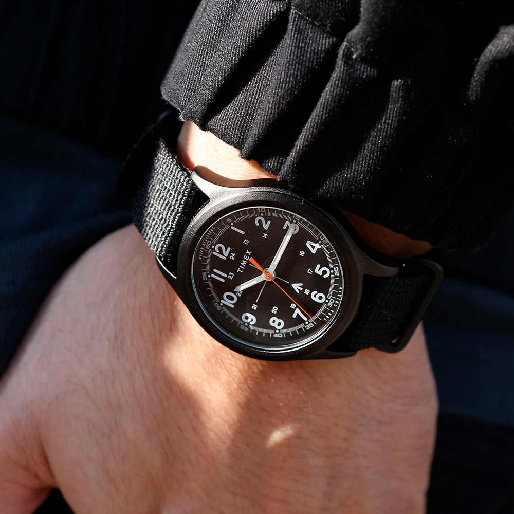 TIMEX xTODD SNYDER聯名限量MILITARY復古軍用腕錶組-黑/40mm