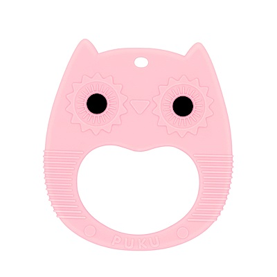 Baby GaGa貓頭鷹固齒器(含鍊夾/收納盒)