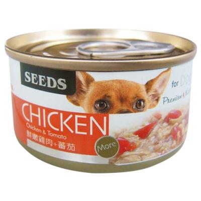 Seeds 聖萊西-CHICKEN愛狗天然食-鮮嫩純雞肉+番茄(70gX24罐)