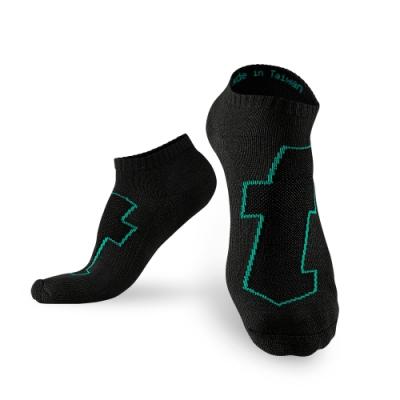 Titan太肯 5雙生活運動襪_黑綠