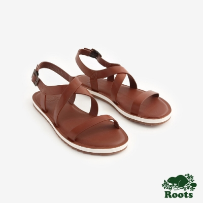 Roots女鞋- 尼爾森涼鞋-棕色