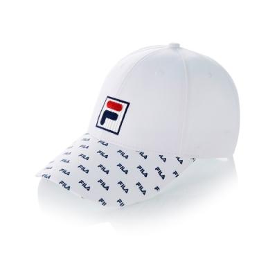 FILA 時尚LOGO帽-白 HTT-5006-WT
